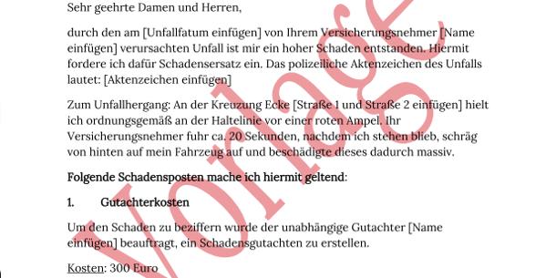 Nett Beispiele Für Autounfall Berichtsvorlagen Galerie - Elektrische ...